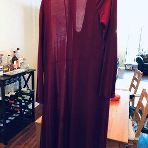 GAP Dresses - Gap Petite Large Red/Cranberry Midi Wrap Dress